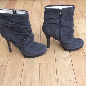 Grey Suede leather boots size 7.5